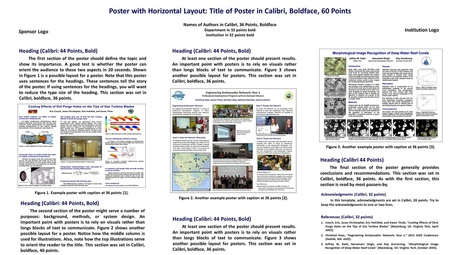templates scientific posters